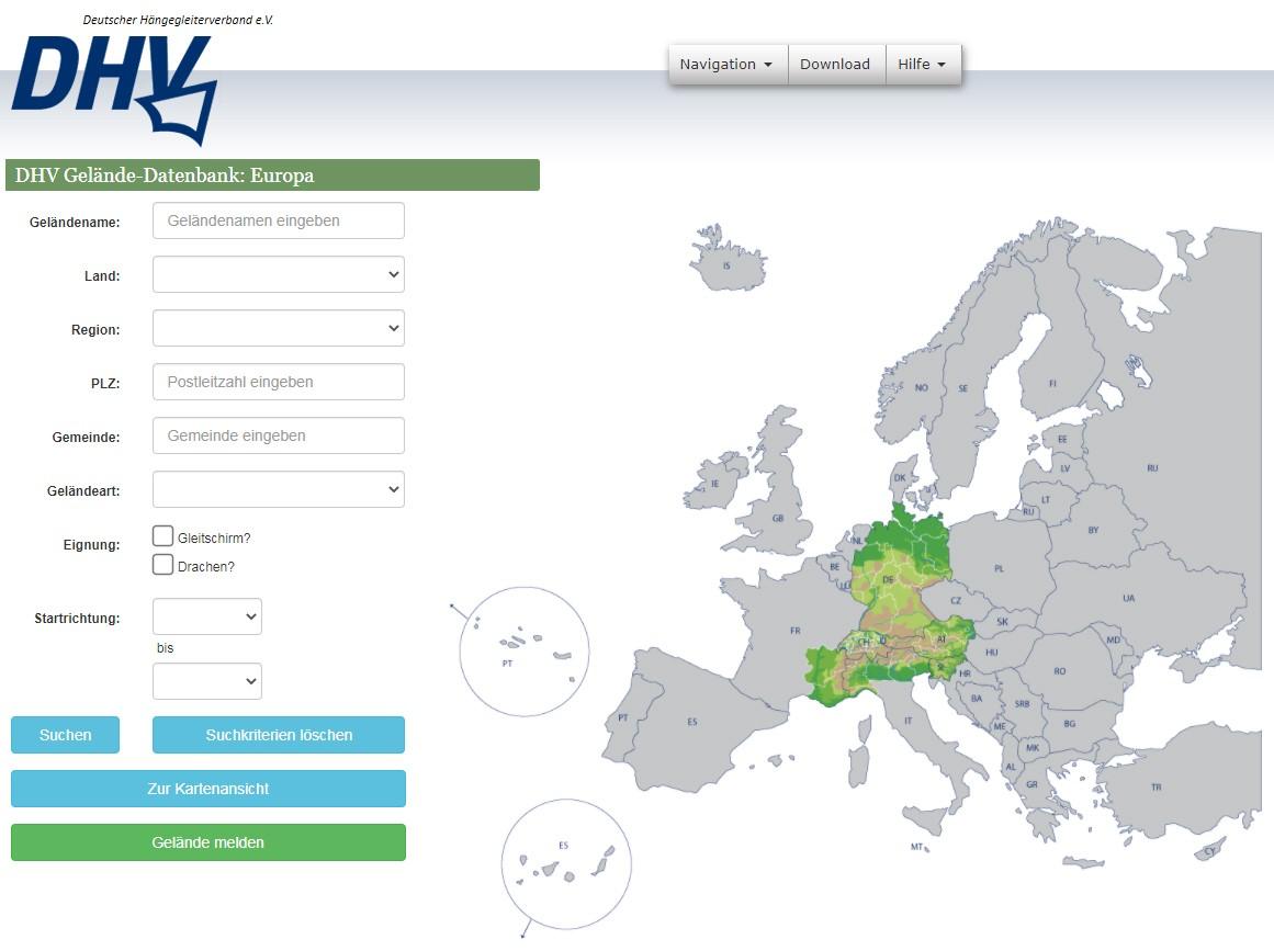DHV Geländedatenbank